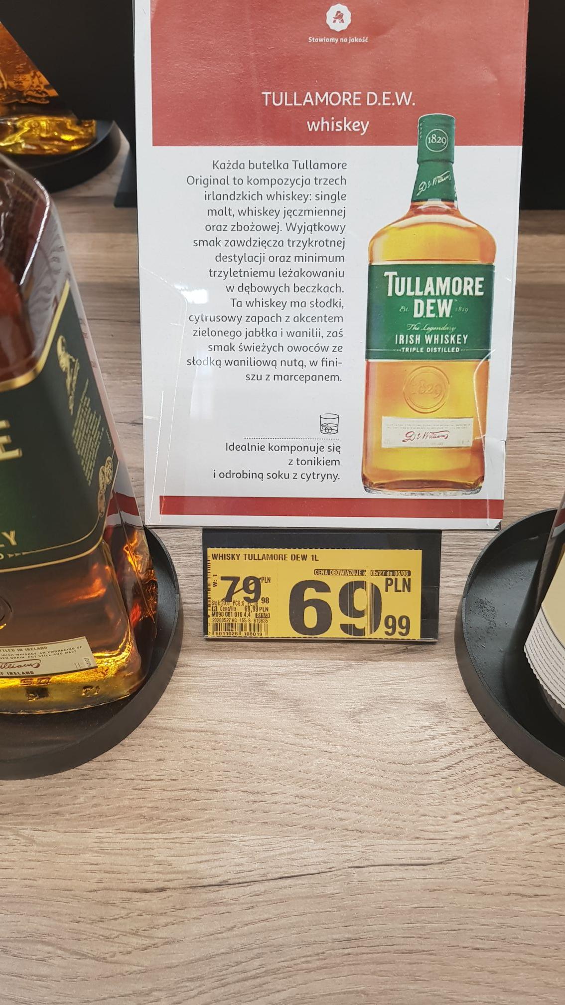 Whiskey Tullamore Dew 1 litr Auchan (Białystok)