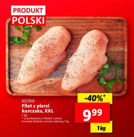 Filet z piersi kurczaka XXL 1kg Lidl