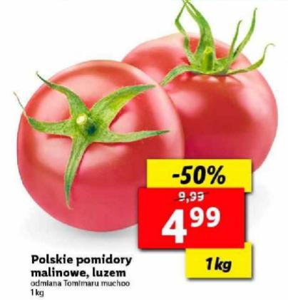 Pomidory malinowe polskie 1kg Lidl