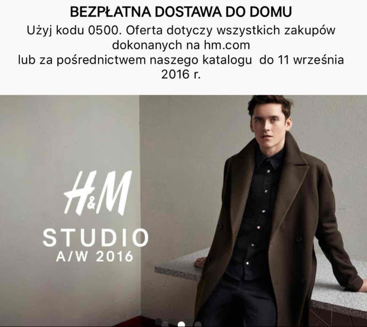 H&M bezpłatna dostawa do 11.09.2016 r.