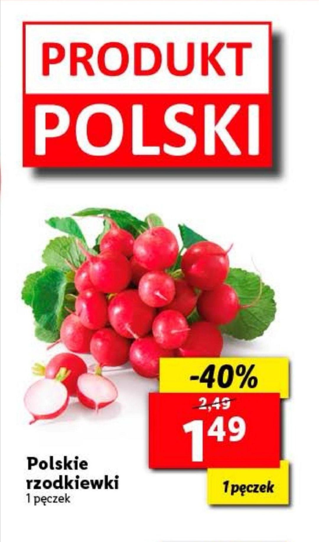 Polska rzodkiewka 1.49zł w Lidl