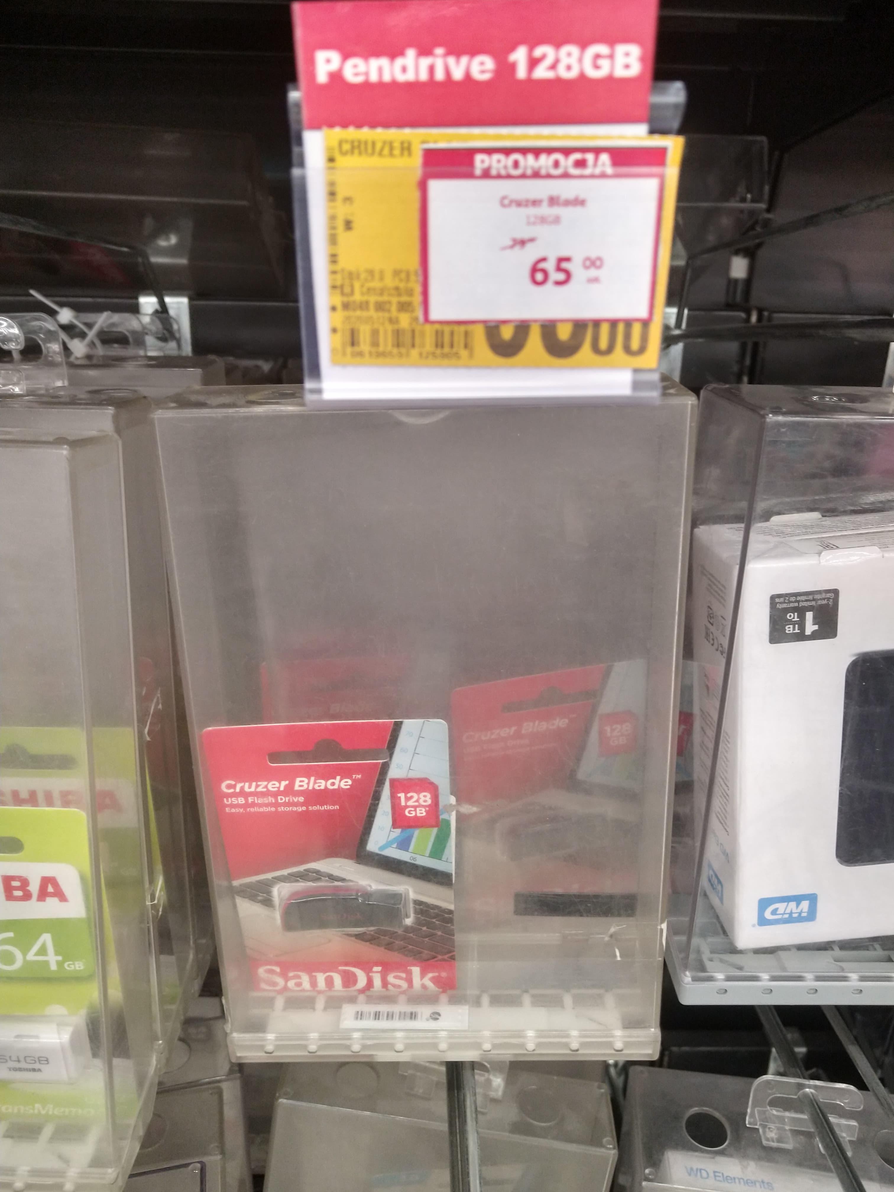 Sandisk Cruzer Blade Pendrive 128GB (USB 2.0) Auchan Lublin