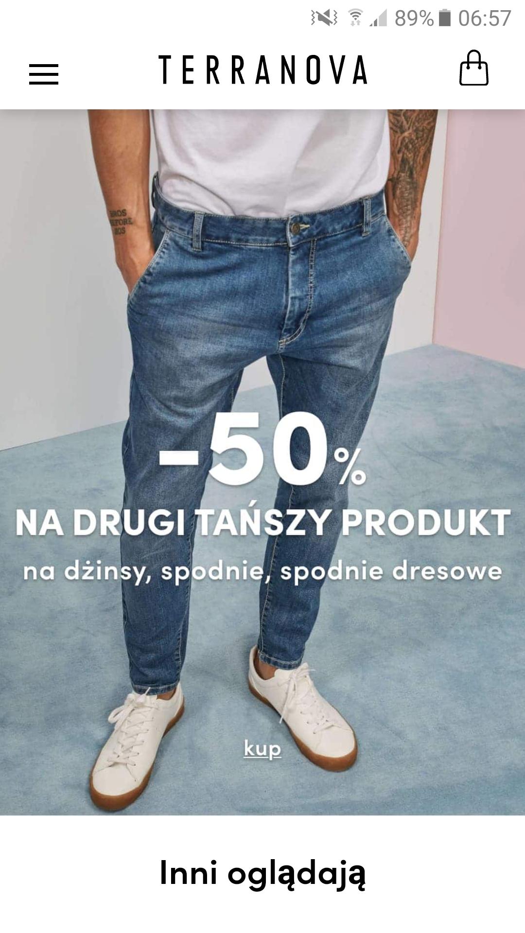 Terranova - 50% mniej na drugi tańszy produkt + 20% upust z okazji dnia dziecka (w sklepie stacjonarnym)
