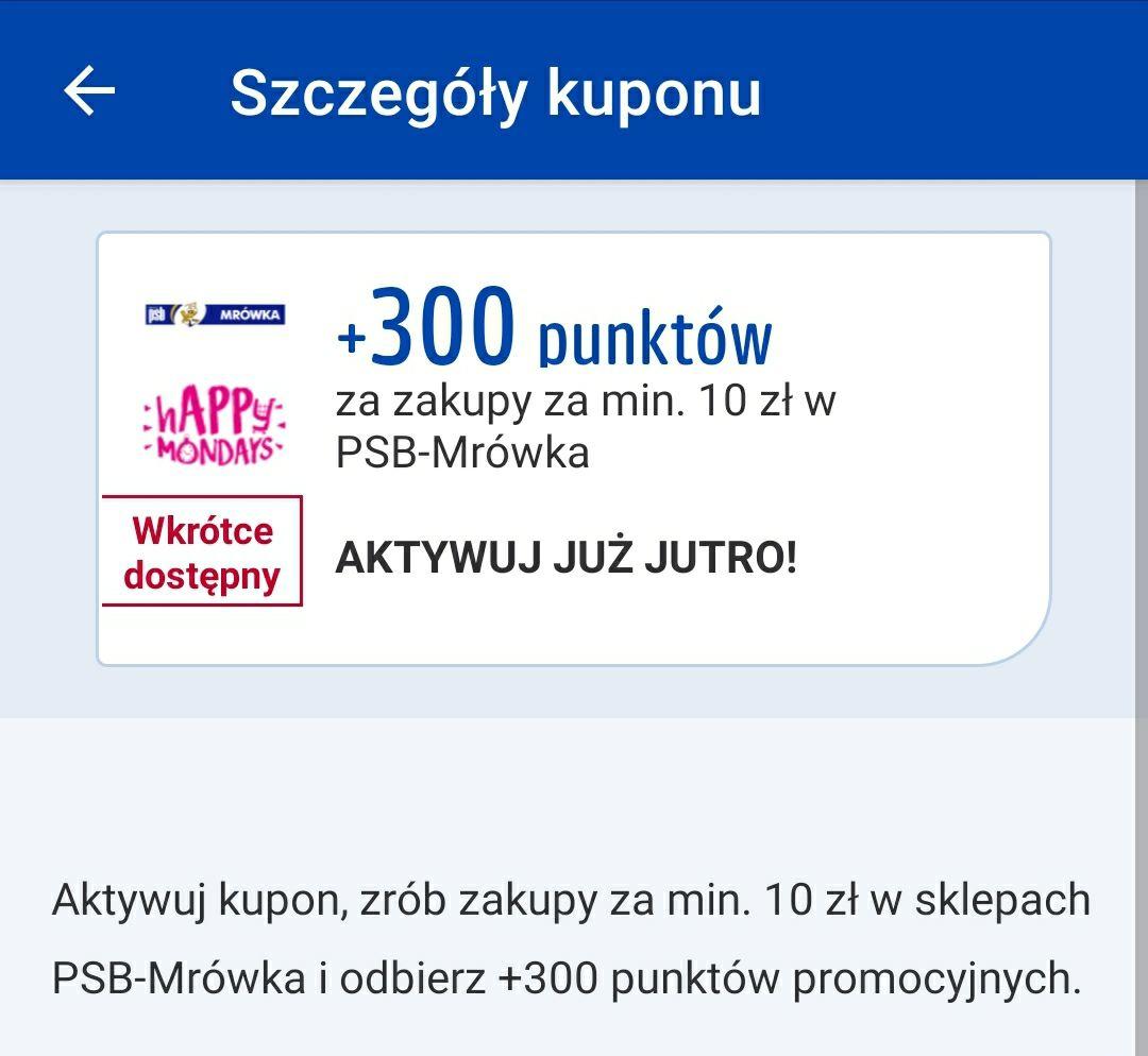 Payback Mrówka 300pkt za wydane 10zł.