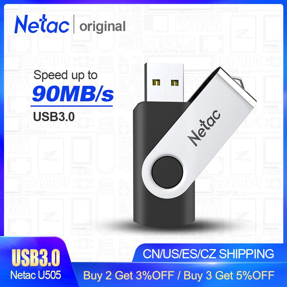 Pendrive Netac 32 GB w metalowej obudowie @Aliexpress