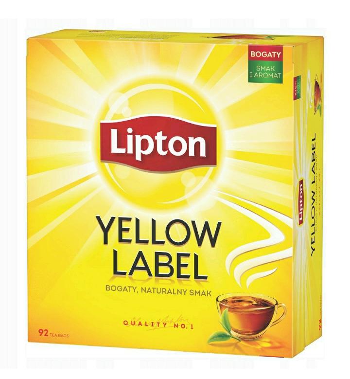 Herbata Lipton Yellow Label 92 szt. Ewen. darmowa dostawa SMART Allegro