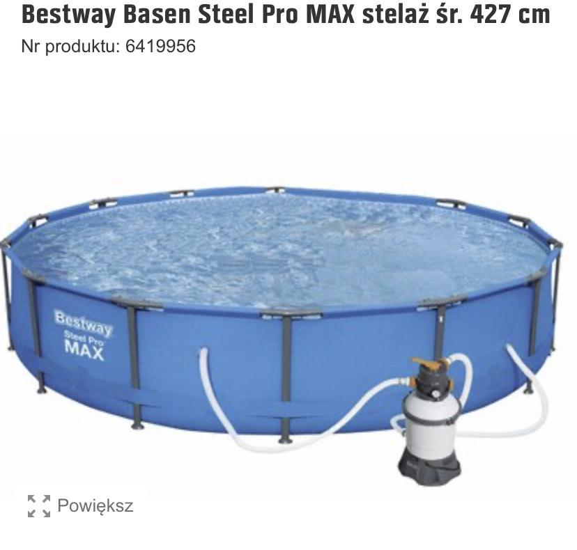 Basen Bestway Steel Pro Max 427x84 z pompą piaskową.