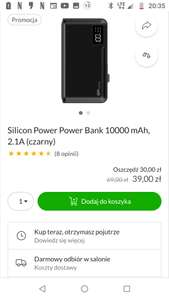 Silicon Power Power Bank 10000 mAh, 2.1A (czarny) w X-KOM, powerbank