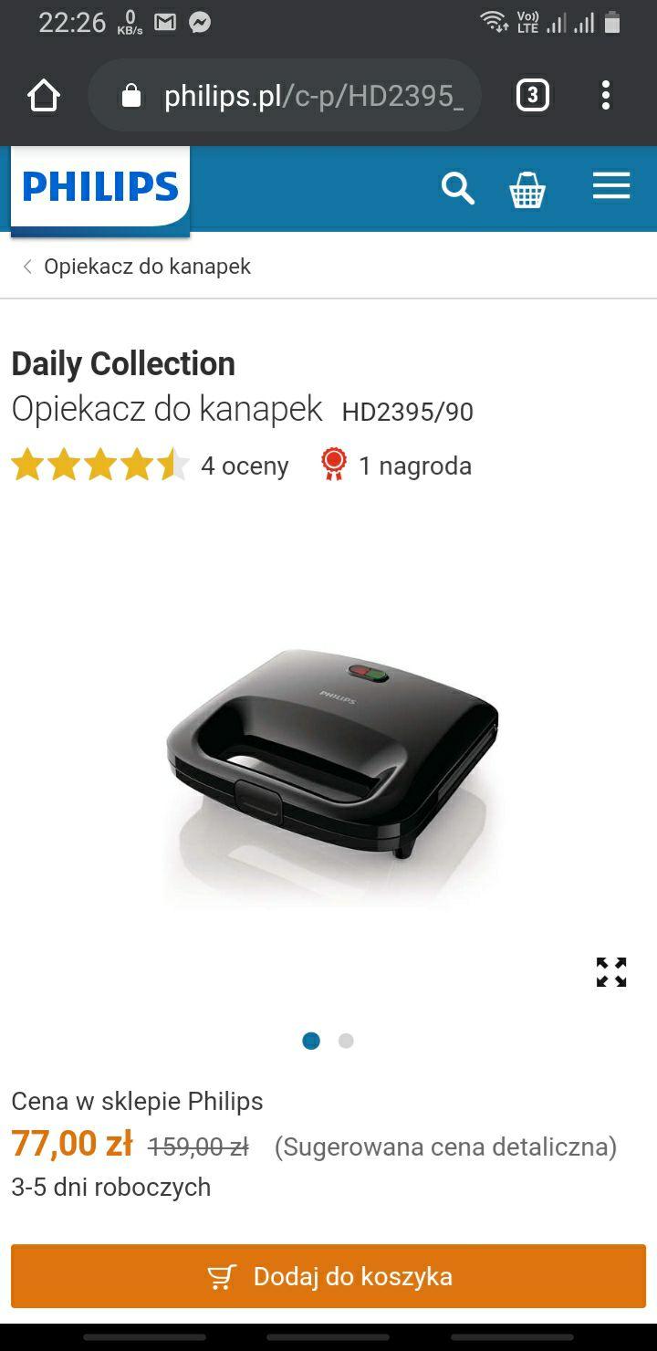 Opiekacz do kanapek Philips HD2395/90
