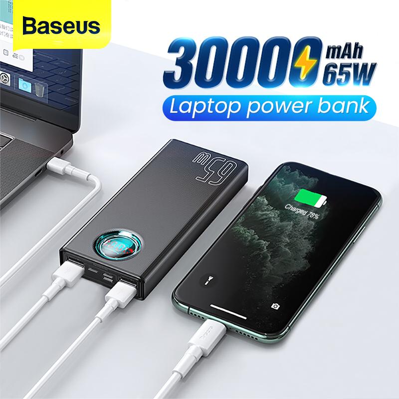 Baseus 65W Power Bank 30000 mAh USB C PD 35.37$ -140zł z kuponami sprzedawcy -4$ -10$ najlepsza cena jest w aplikacji!