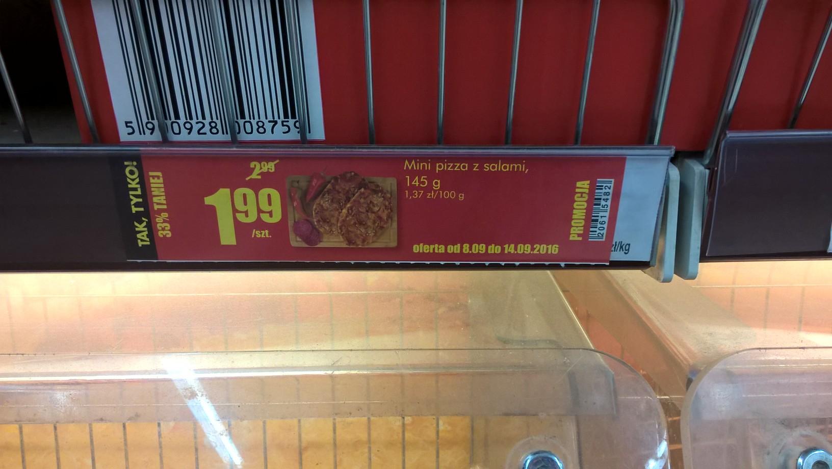 Mini Pizza z Salami 145g @Biedronka