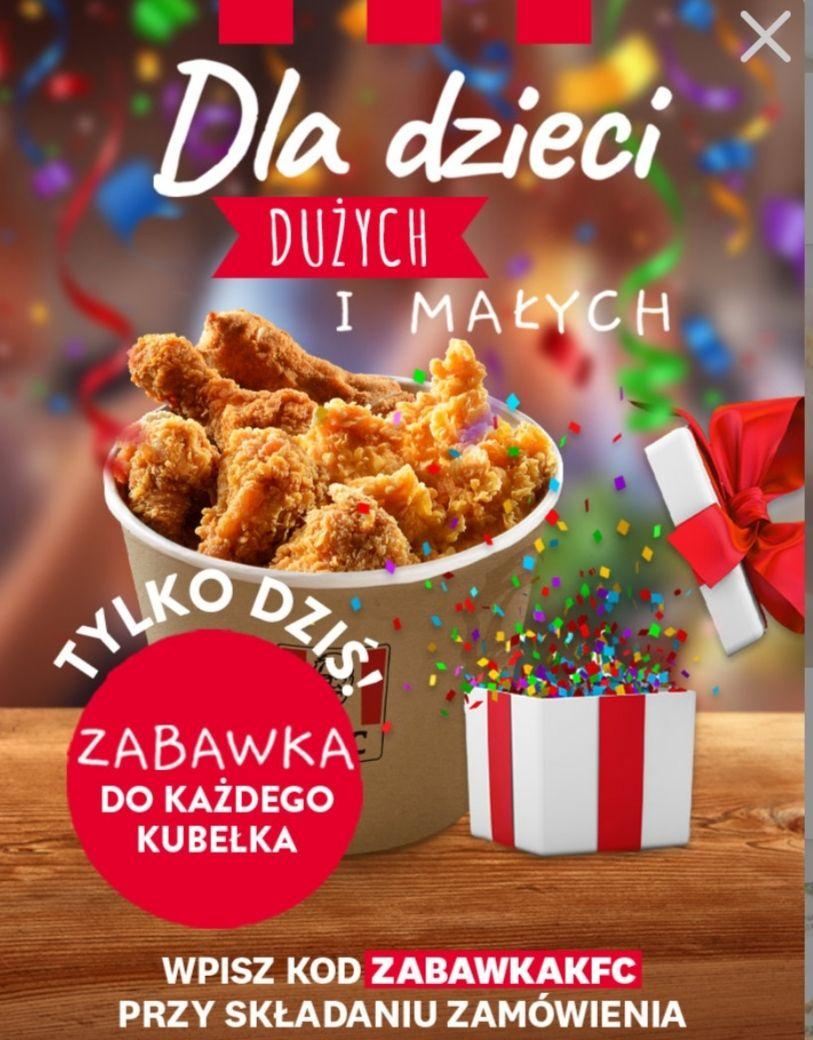 KFC, tylko dzisiaj zabawka do każdego kubełka