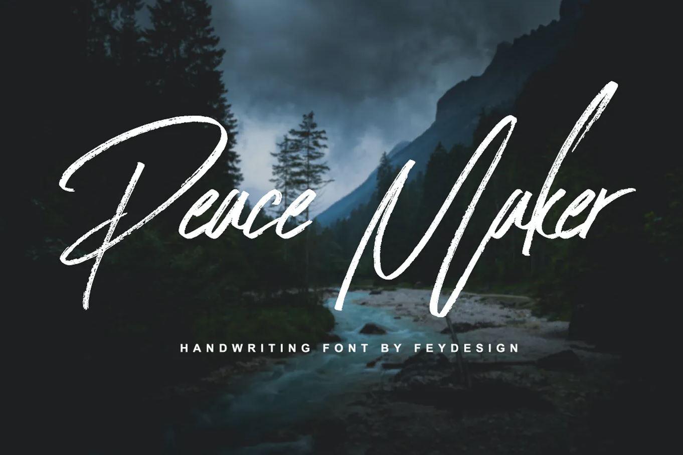 Darmowy font / czcionka Peace Maker z licencją na komercyjne wykorzystanie