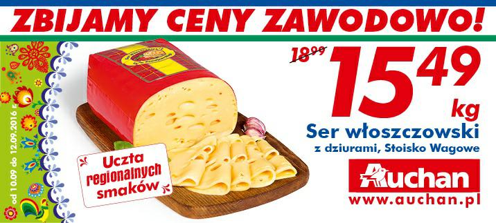 Ser włoszczowski z dziurami kg @Auchan