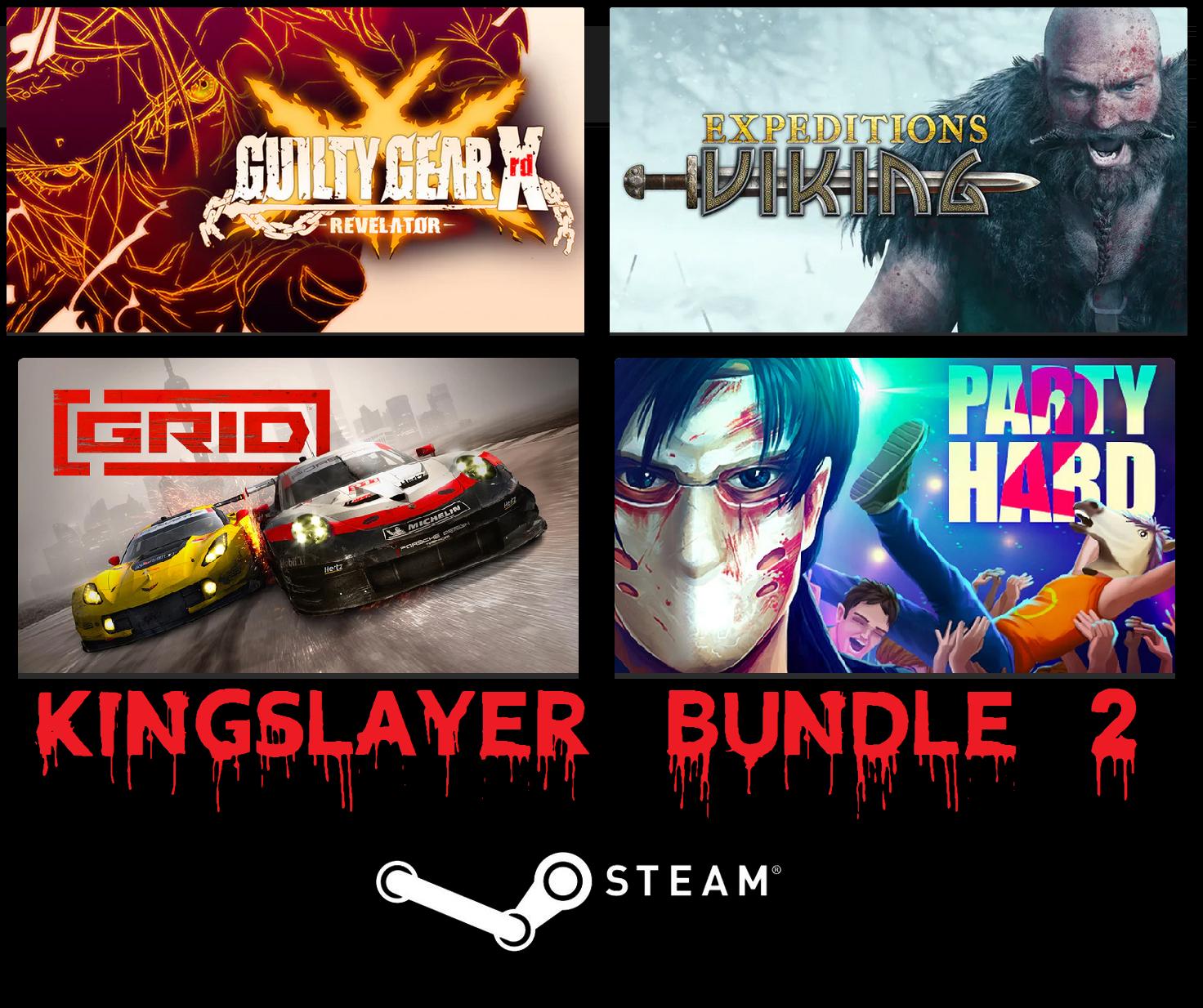 Pakiet 5 gier (GRID, Duke Nukem, Party Hard i inne + DLC) (PC) - Kingslayer Bundle