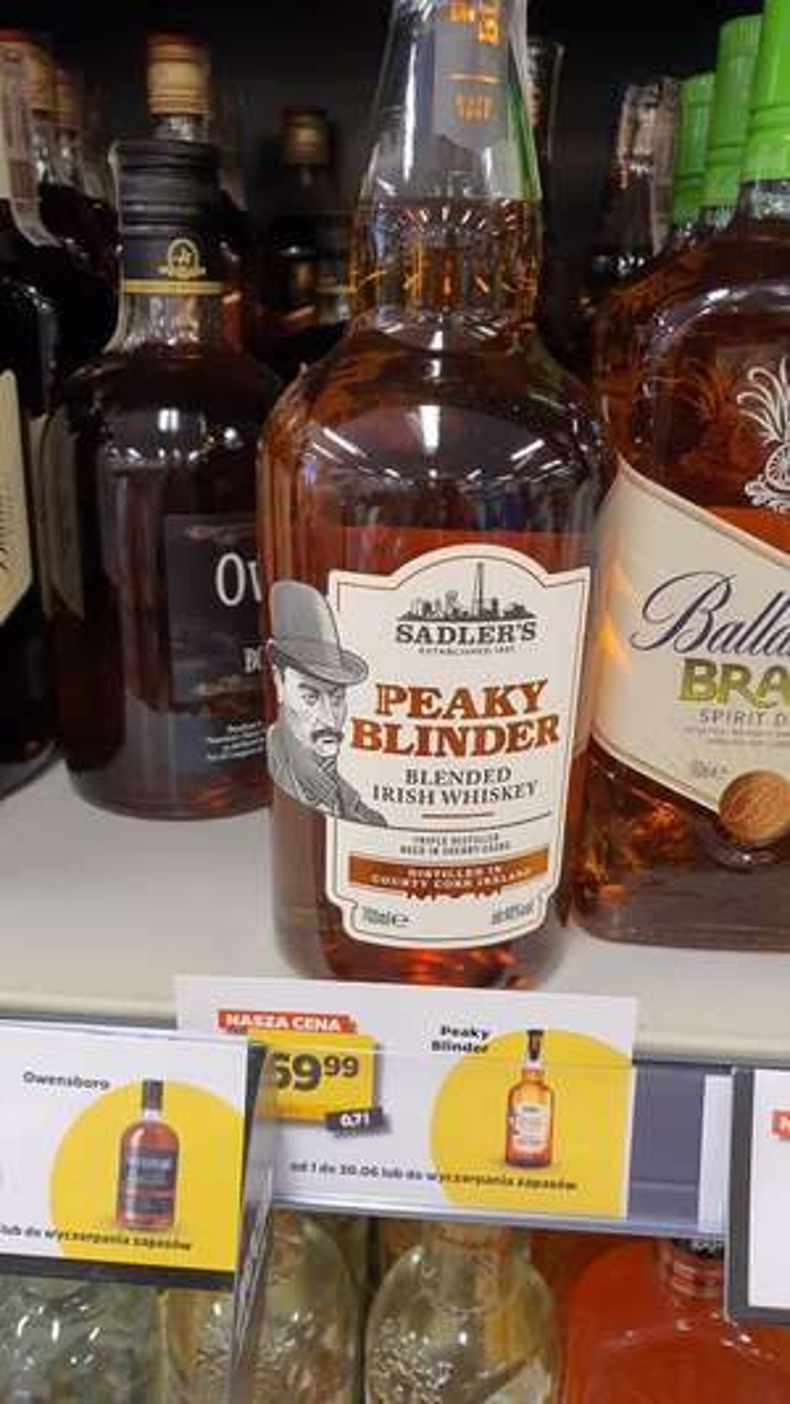 Peaky Blinder whiskey 0,7l