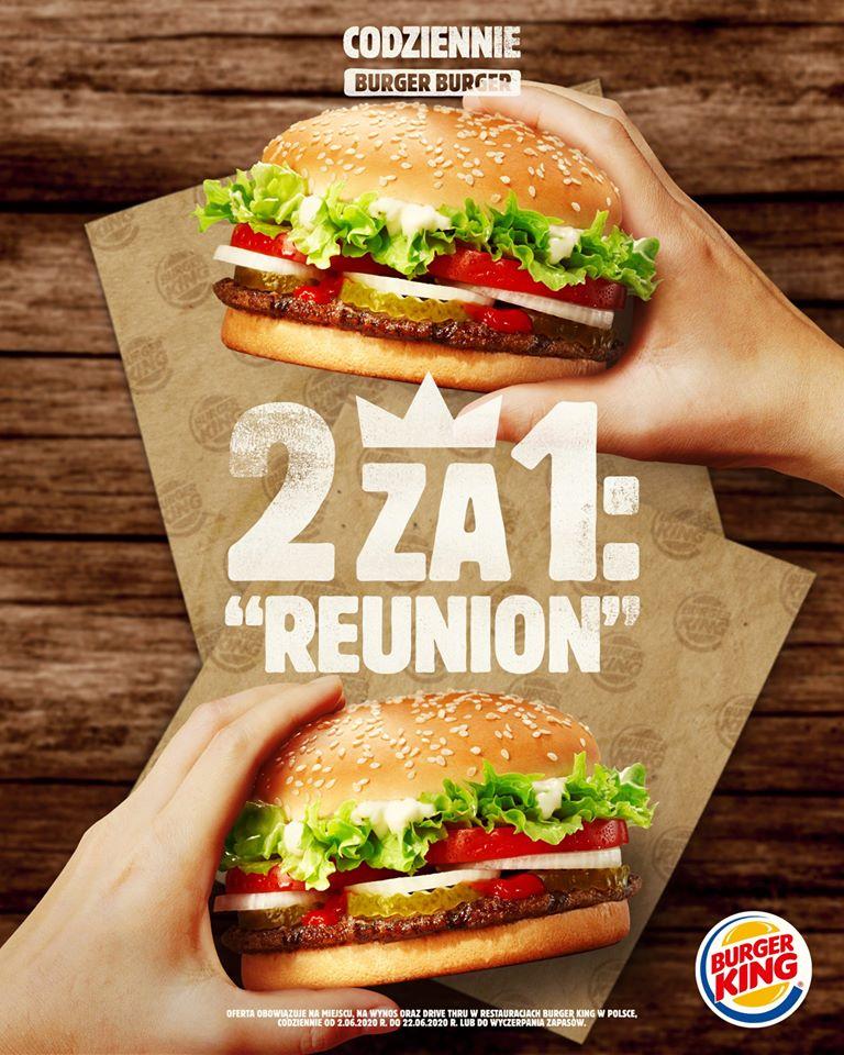 Burger King BK Whooper gratis do zamówień burgera i jego kombinacji