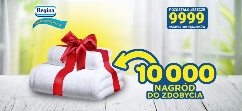 Kup papier toaletowy Regina i otrzymaj komplet ręczników