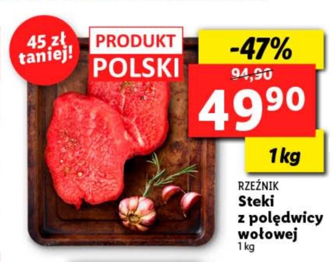 Stek z polędwicy wołowej Lidl