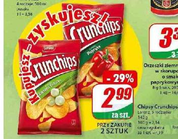 Crunchips 140g 2,99 zł / szt. przy zakupie 2 szt. @Dino