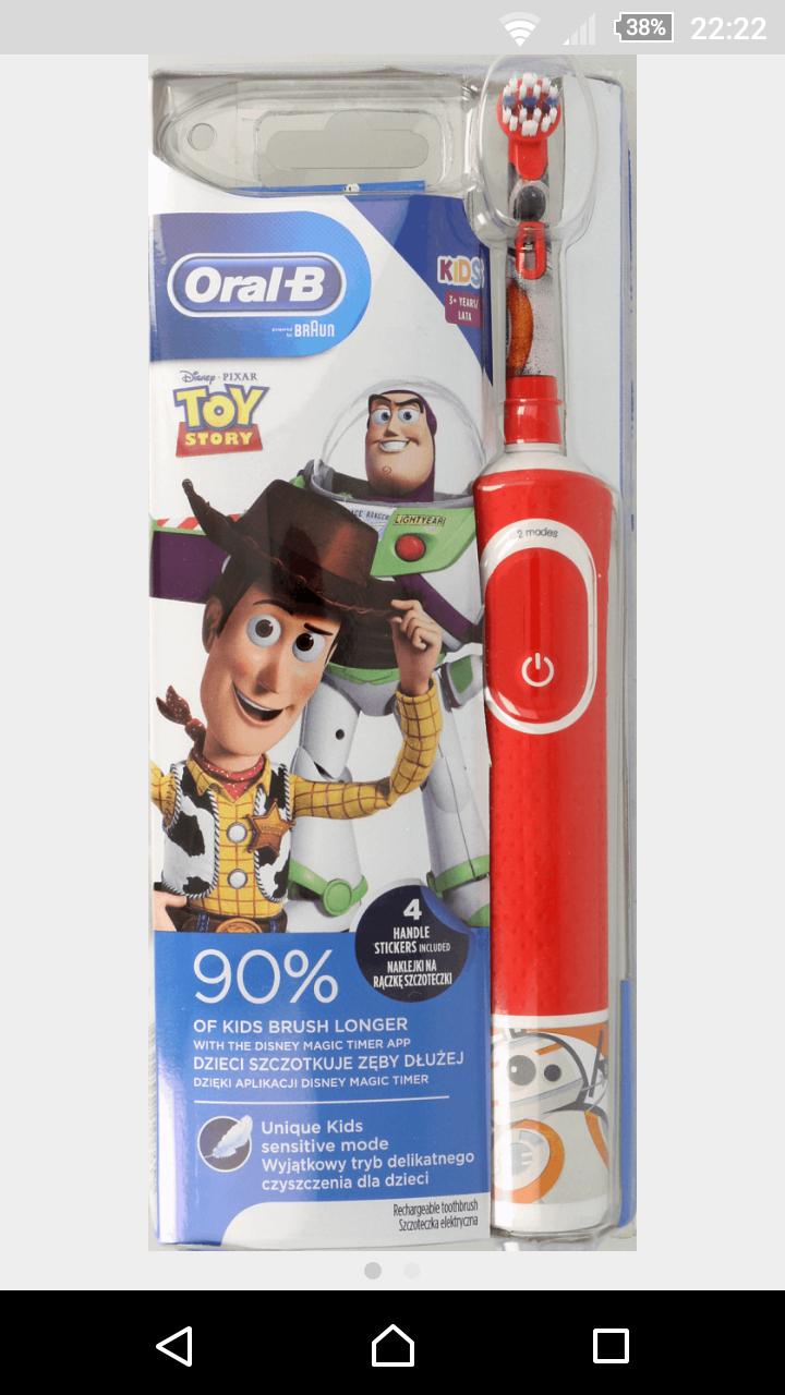 Rossmann, Szczoteczka elektryczna oral b toy story