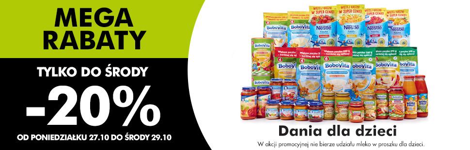 Dania dla dzieci -20% @ Biedronka