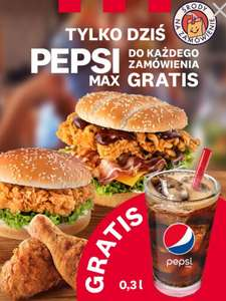 KFC, Pepsi Max do każdego zamówienia gratis