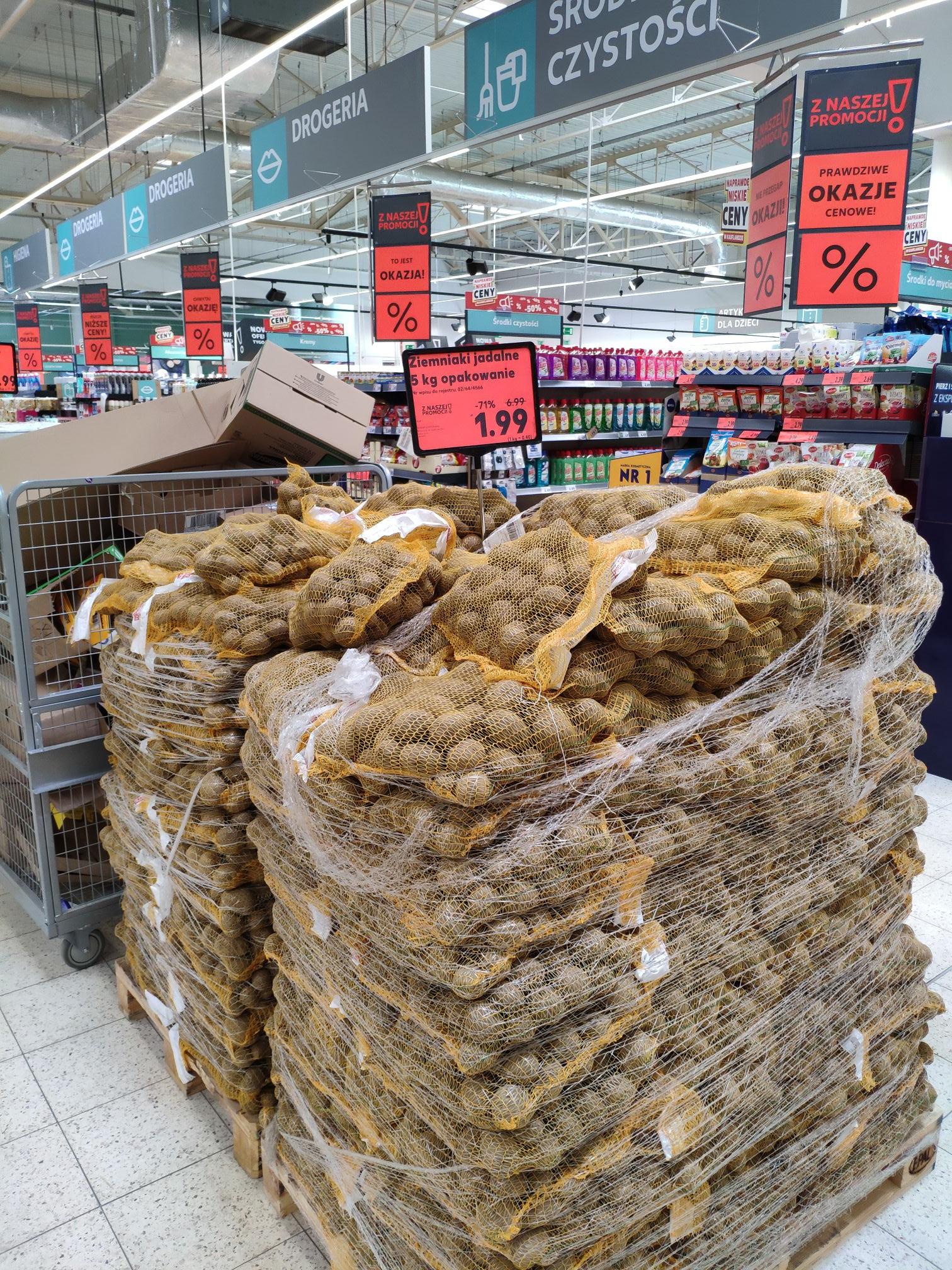 Ziemniaki w gdańskim Kaufland