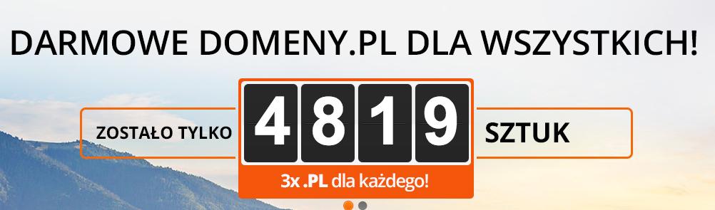 5000 darmowych domen.pl @ nazwa.pl