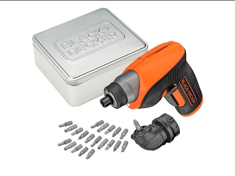 Black&Decker Wkrętak akumulatorowy 3,6 V w puszce prezentowej - Lidl
