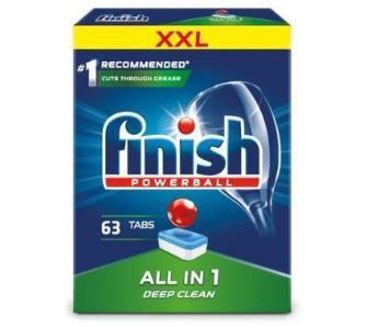 Tabletki do zmywarki Finish Powerball All in 1 (63 szt.) za 27,99zł z darmowym odbiorem @ Euro