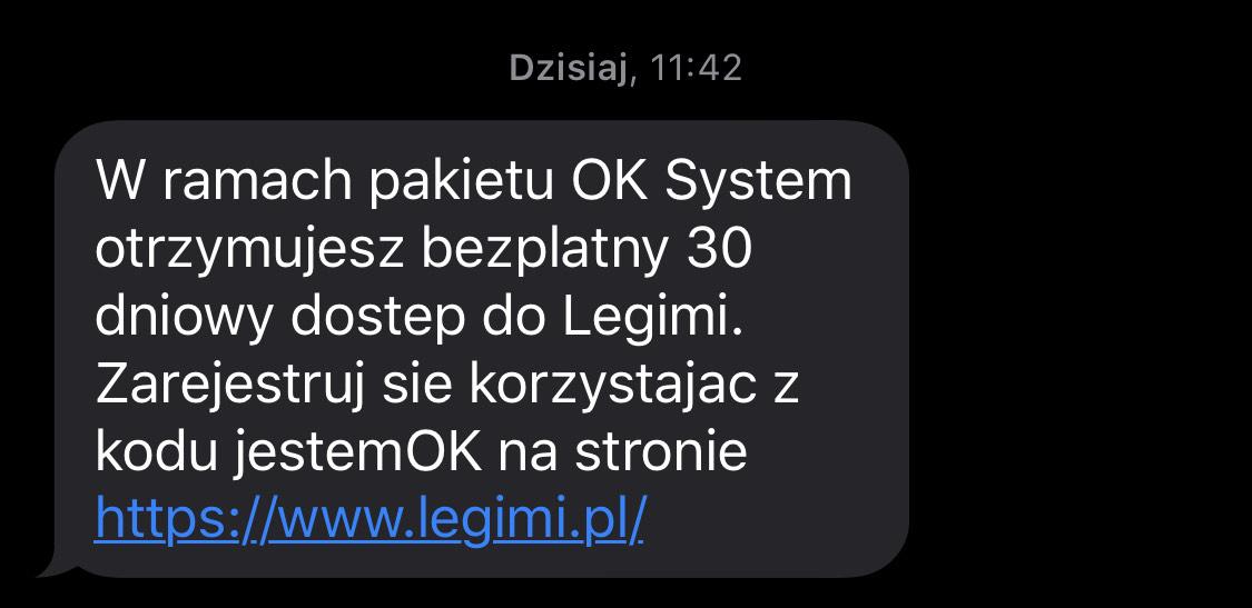 Darmowe 30 dni Legimi od OK System