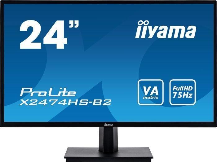 "Monitor 24"" IIYAMA X2474HS-B2 (1080p, matryca VA, 75Hz) z darmowym kurierem @ Morele"