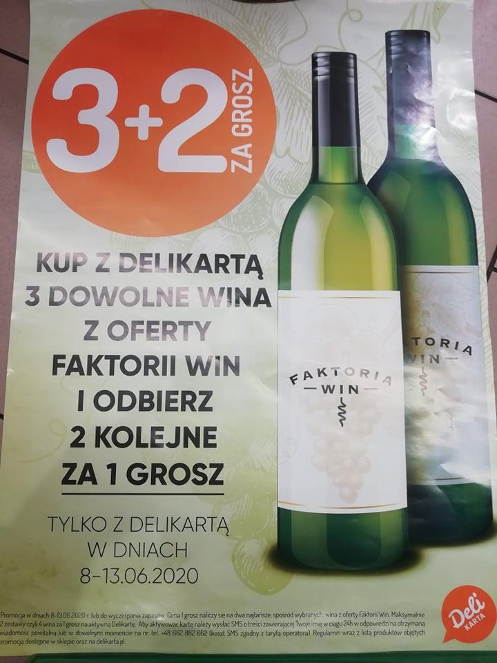 3 + 2 za grosz Wina z Faktorii Win w Delikatesy Centrum oraz Mila