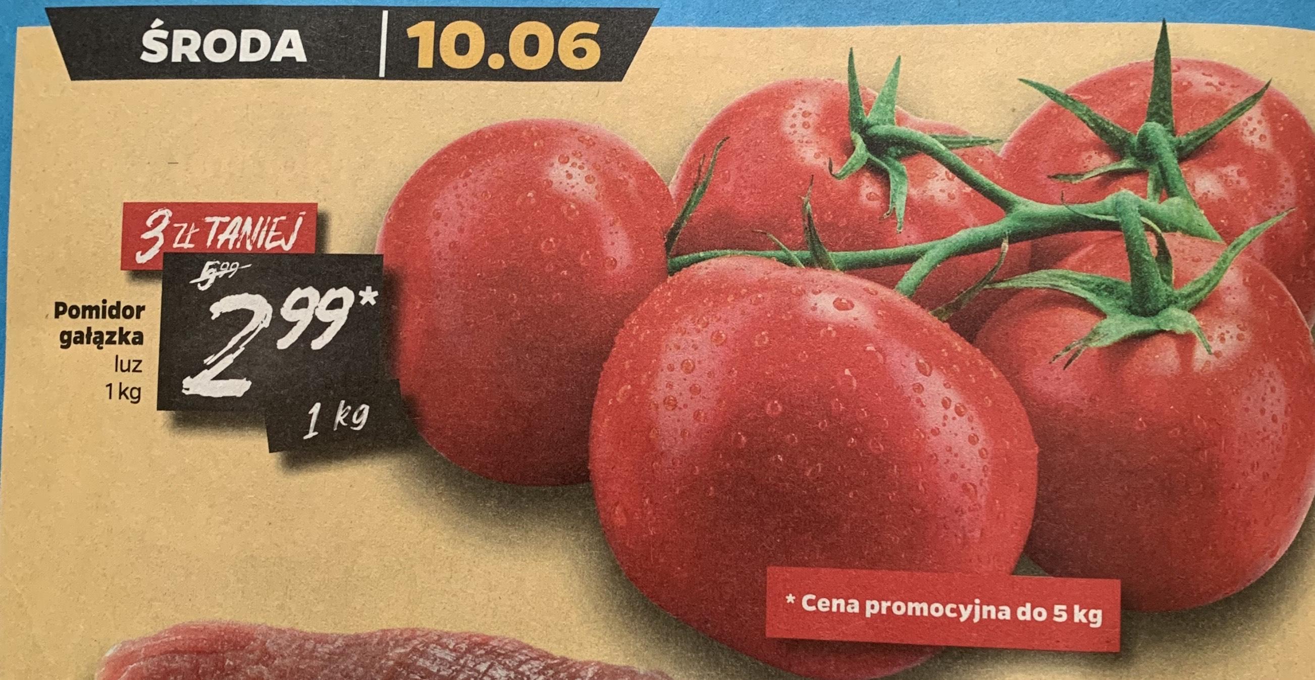 Pomidor gałązka 10.06 w Netto