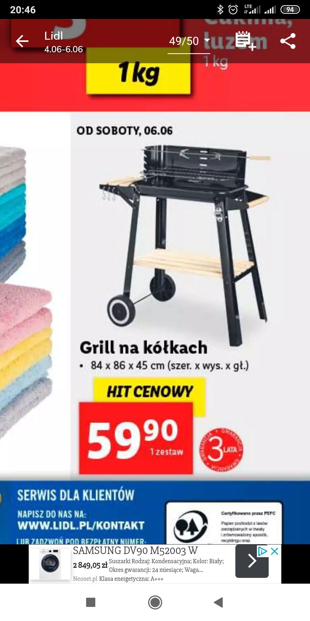 Budżetowy grill na kółkach Lidl