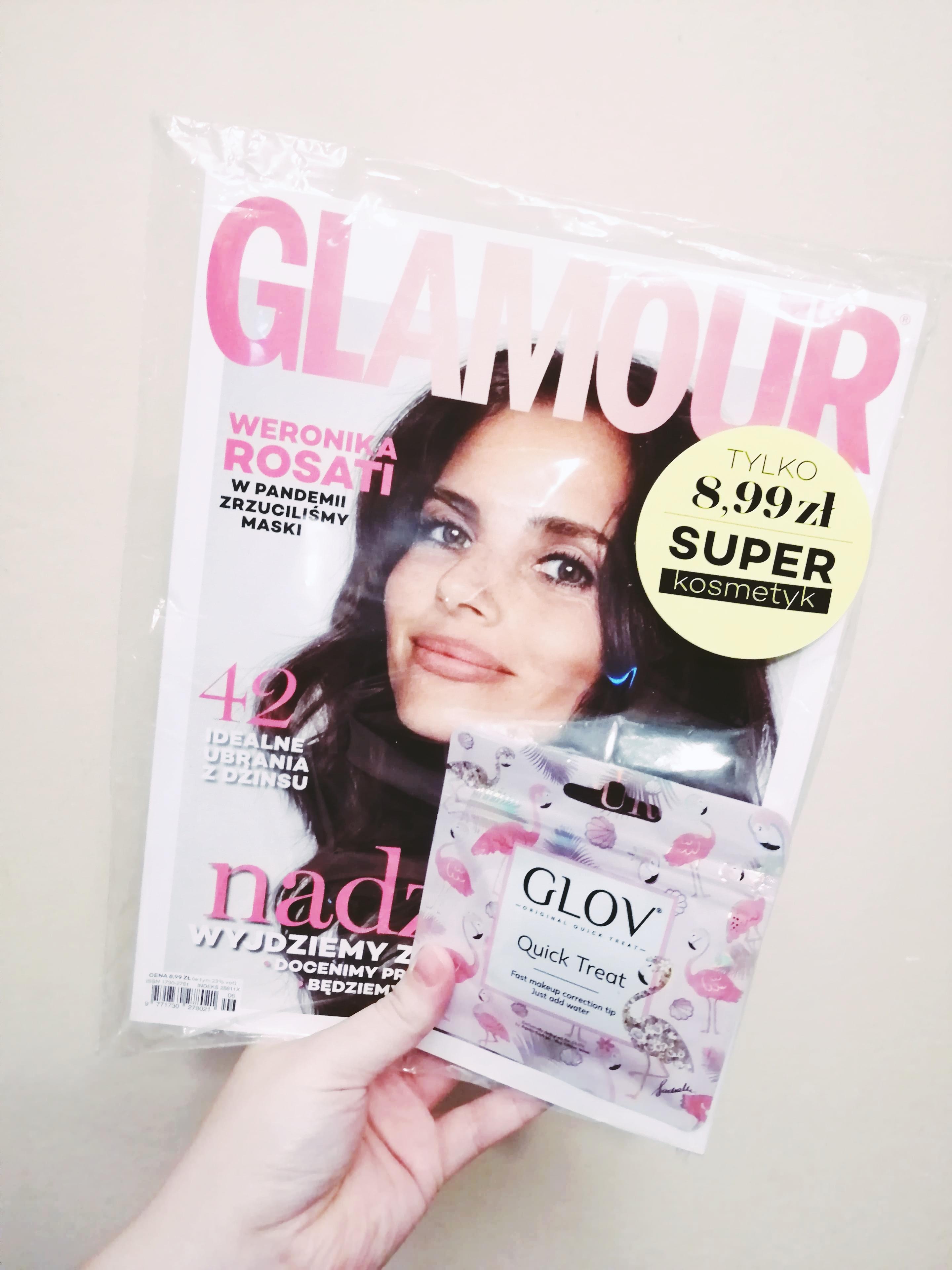 Czerwcowe Glamour z minirękawiczką do korekt makijażu GLOV Quick Treat