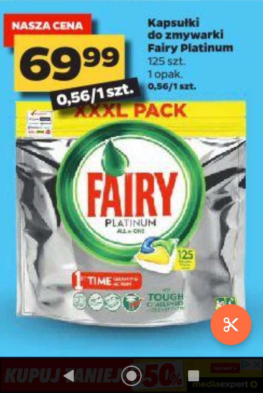 Kapsułki Fairy Platinum All in One 125 szt. (0,56 zł/szt.) - Netto