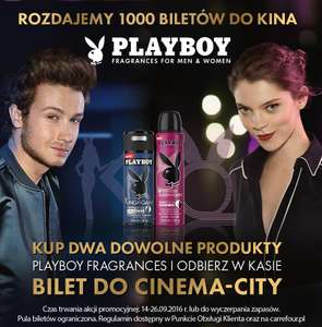 Bilet do kina Cinema City za zakup produktów Playboy @ Carrefour