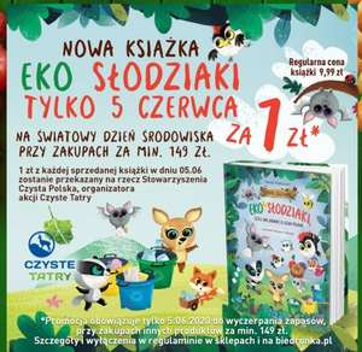 Książka Eko-Slodziaki za 1 zł @Biedronka przy zakupach za 149 zl