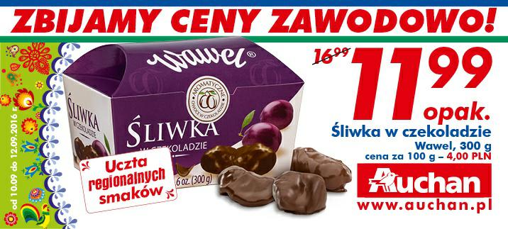 Śliwka w czekoladzie Wawel 300g/1opak @Auchan
