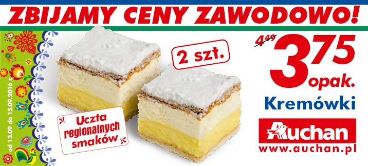 Kremówki 2szt/1opak @Auchan