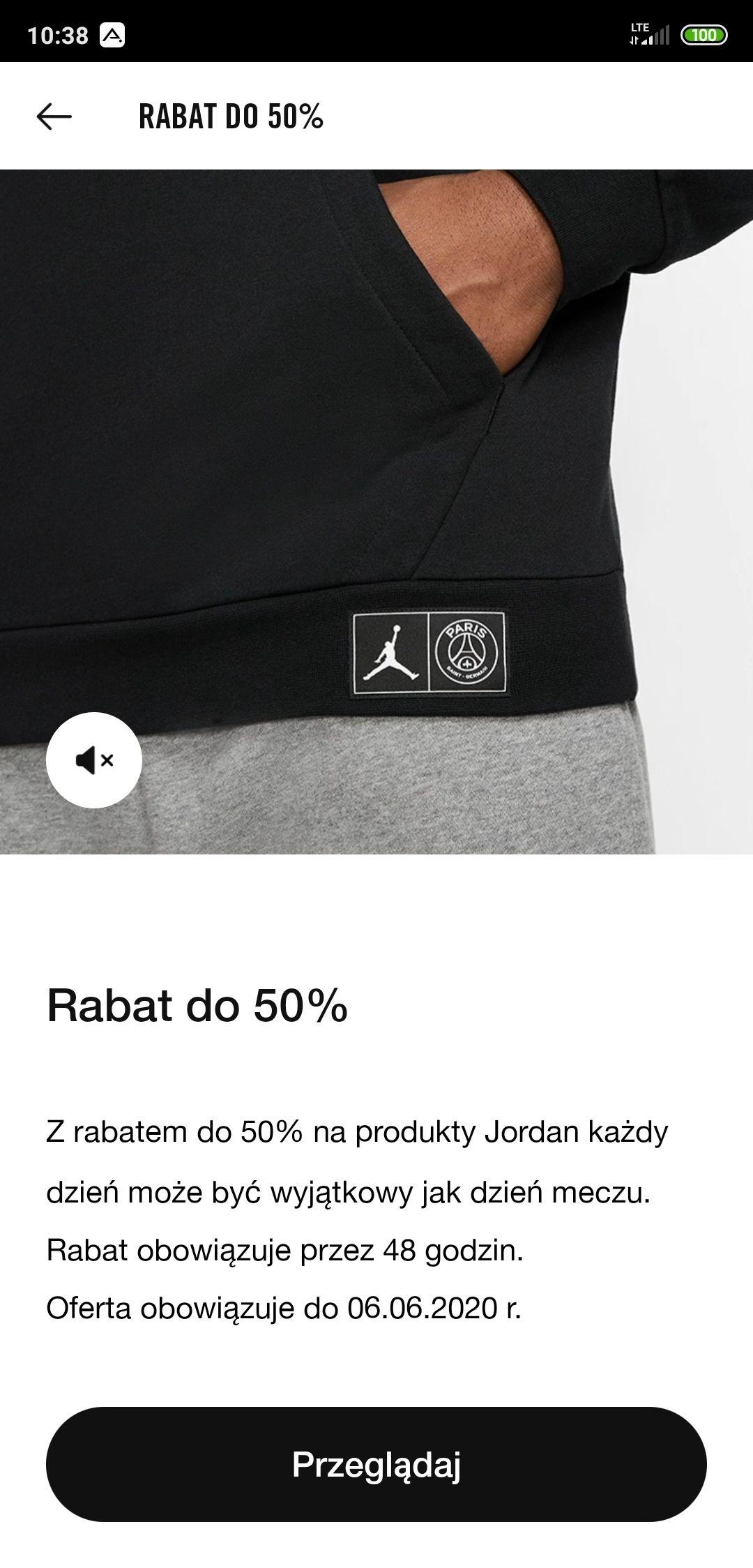 Wyprzedaż Nike Jordan - do -50%