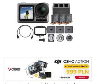 Kamera DJI OSMO Action + DJI Charging Kit GRATIS