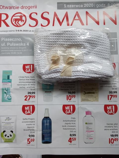 Bezpłatna poduszka do wanny (lokalna okazja Rossmann)