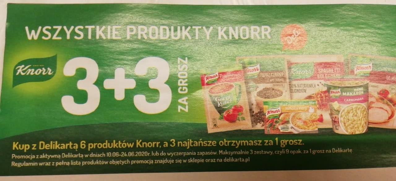 3 + 3 za grosz - Wszystkie produkty Knorr Delikatesy Centrum oraz Mila