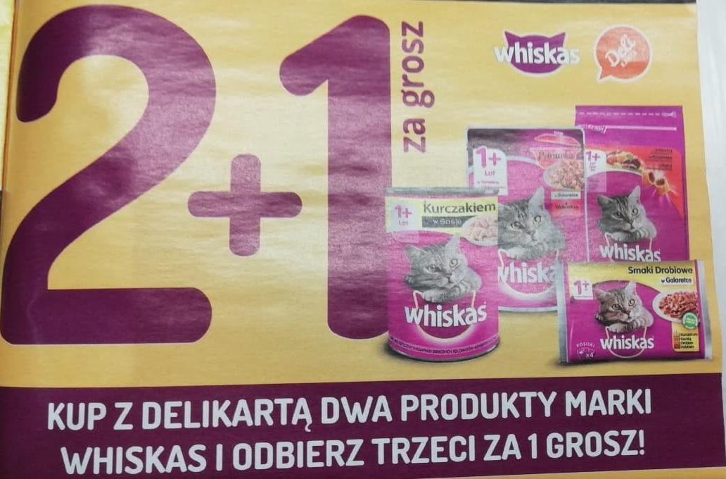 Whiskas 2 + 1 za grosz Delikatesy Centrum oraz Mila