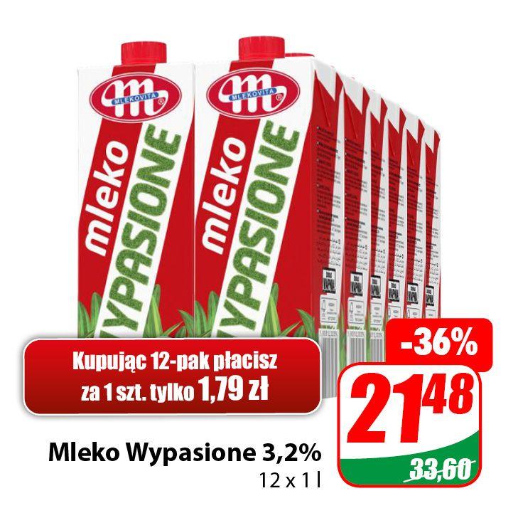 Mleko Wypasione 3,2% 1l (cena przy zakupie 12szt.) - DINO