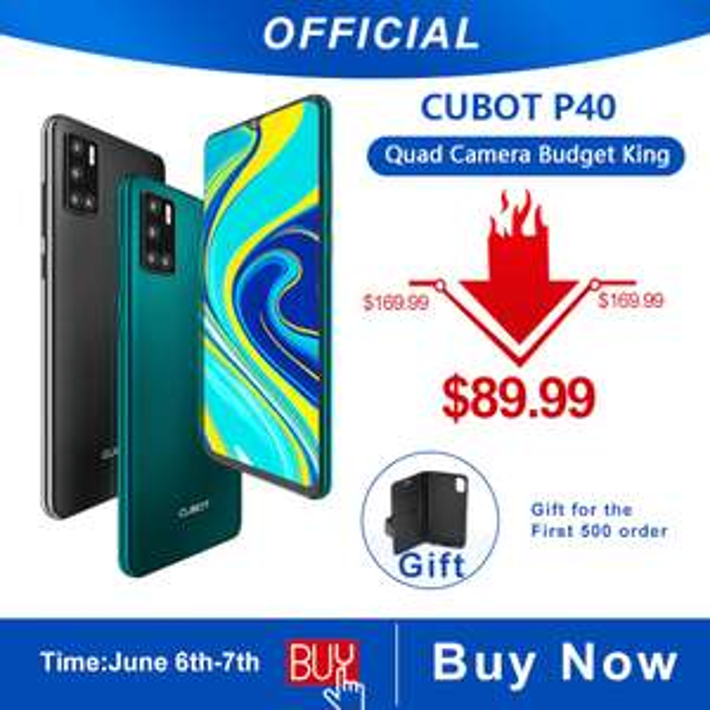 Smartfon Cubot P40 4GB+128GB