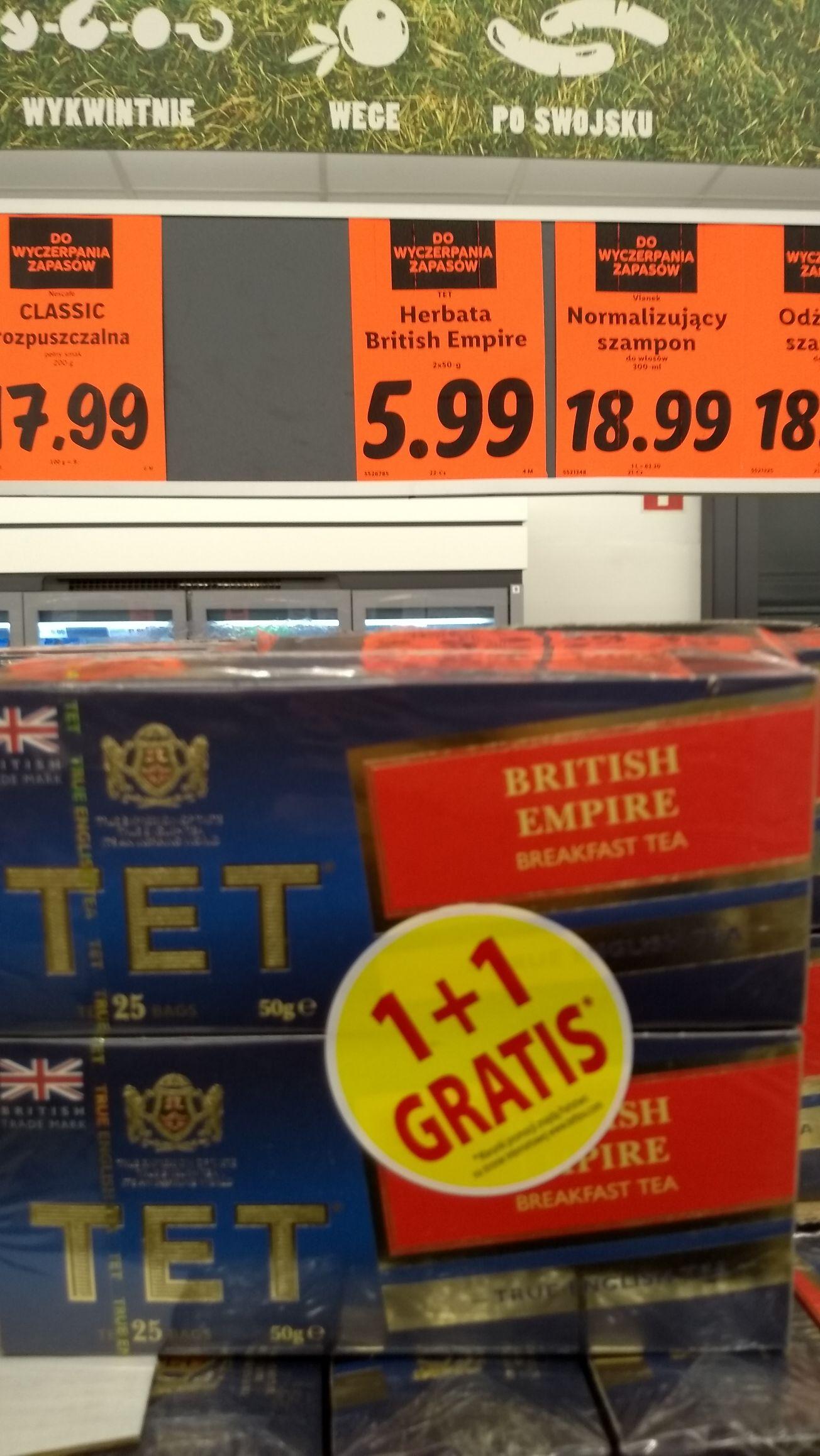 Herbata TET British Empire Breakfast tea 25 torebek 1+1 gratis, Lidl Szczecin